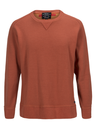 Unisex Sweatshirt mit Rundhals White Light Orange | Peak Performance
