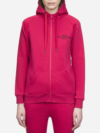 Women's Logo Zipped Hood True Pink | Peak Performance