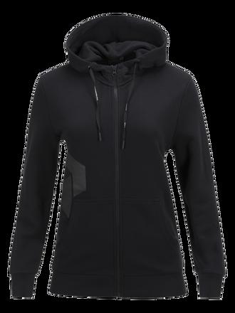 Sweat à capuche zippé femme Zero Black | Peak Performance