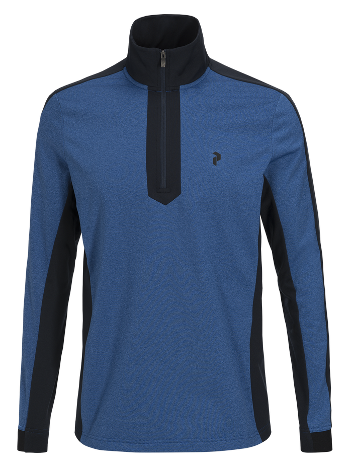 Men's Ace Melange Mid Jersey True Blue | Peak Performance