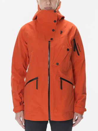Damen Bec Skijacke Orange Lava | Peak Performance