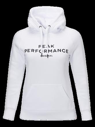 Women's Logo Hood White   Peak Performance