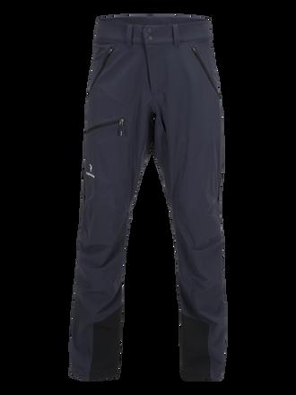 Men's Black Light Softshell Pants Dark Slate Blue | Peak Performance