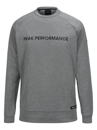 Men's Goldeck Crew neck Grey melange | Peak Performance