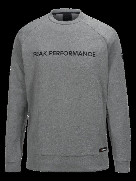 Goldeck herrtröja med rund halsringning Grey melange | Peak Performance