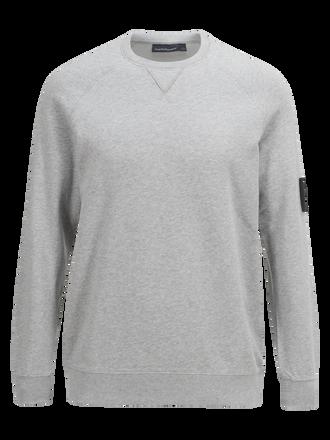 Original rundringad tröja Med Grey Mel | Peak Performance