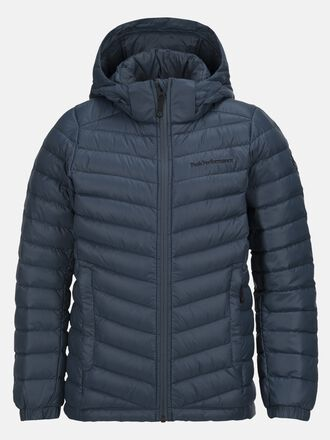 Kids Frost Down Hood Jacket Blue Steel | Peak Performance