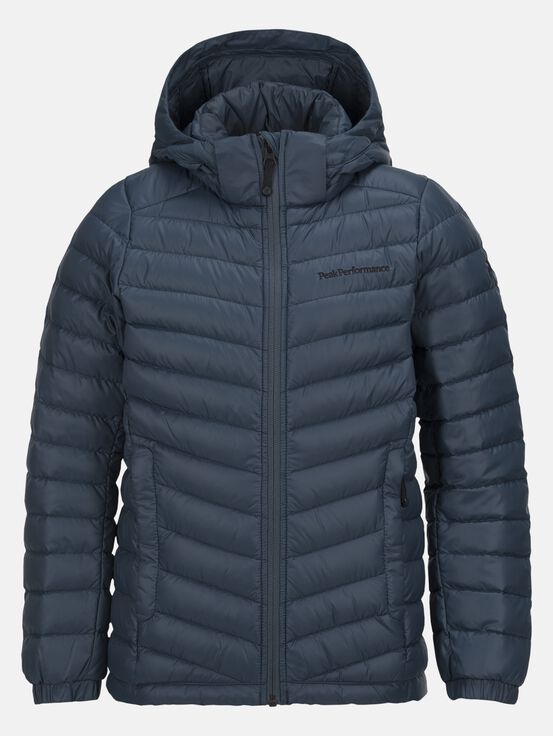 Kids Frost Daunenjacke mit Kapuze Blue Steel | Peak Performance