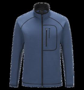 Veste intermédiaire zippée à capuche pour hommes Heli