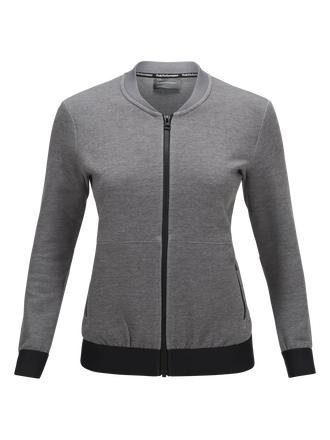 Women's Teck Zipped Jacket Grey melange | Peak Performance