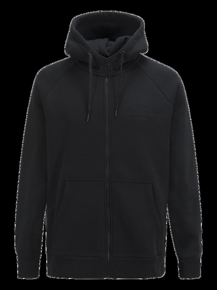 Sweat zippé à capuche homme Logo