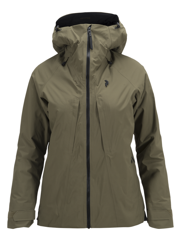 Women's Teton 2-Layer Ski Jacket Soil Olive | Peak Performance