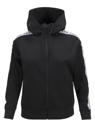 Sweat à capuche zippé femme Tech Club Black | Peak Performance