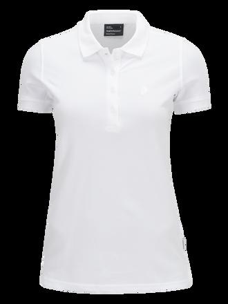 Polo de golf en piqué pour femmes White | Peak Performance