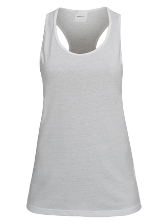 Women's Track Tank White | Peak Performance