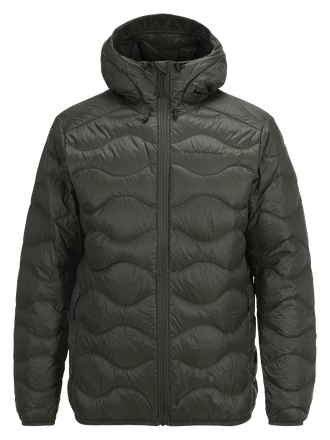 Men's Helium Hooded Jacket Forest Night | Peak Performance