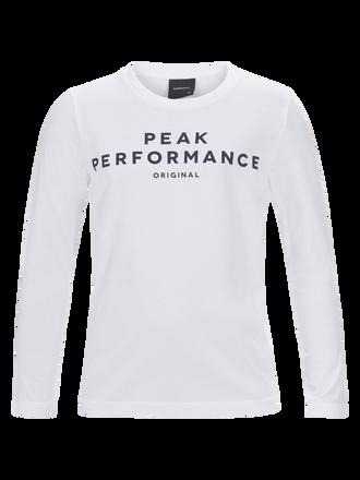 Kids Langärmliges T-Shirt White | Peak Performance