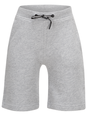 Kids Lite Shorts Long  Med Grey Mel | Peak Performance