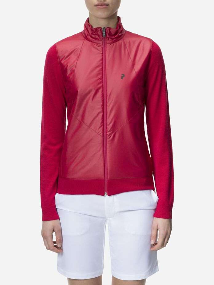 Women's Golf Sanford Zipped Jacket True Pink | Peak Performance