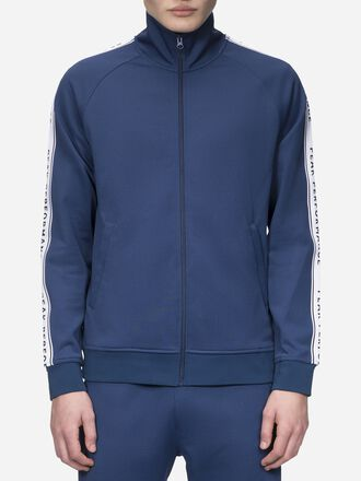 Sweat zippé homme Tech Club Thermal Blue | Peak Performance