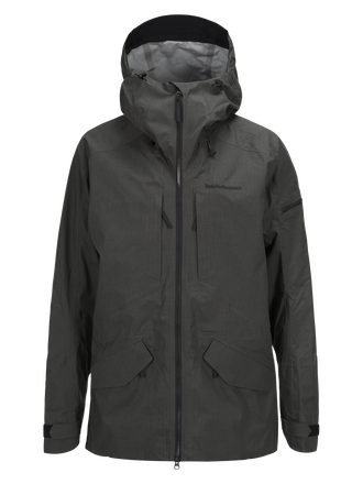 Men's Melange Teton Shell Ski Jacket Black Olive | Peak Performance