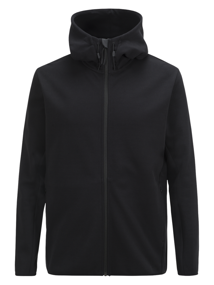Sweat zippé à capuche homme Tech Black | Peak Performance