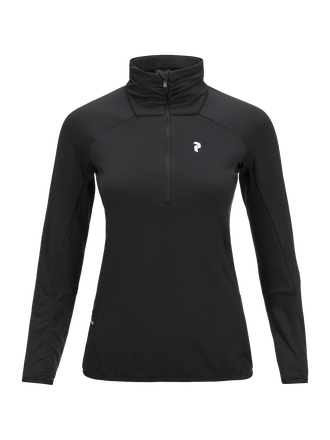 Women's Golf Wiltshire Half Zipped Mid-Layer Top Black | Peak Performance