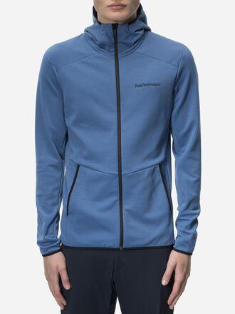 Men's Helo Hooded Mid Jacket Stream Blue | Peak Performance