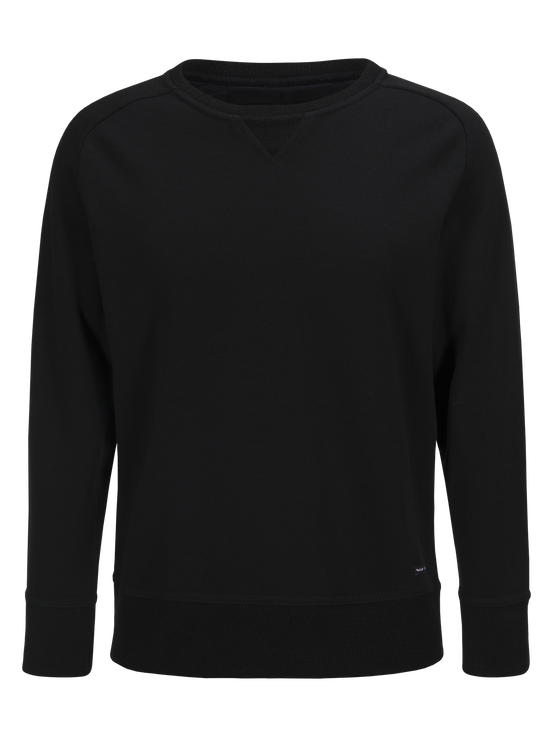 Unisex Sweatshirt med rund halsringning Black   Peak Performance