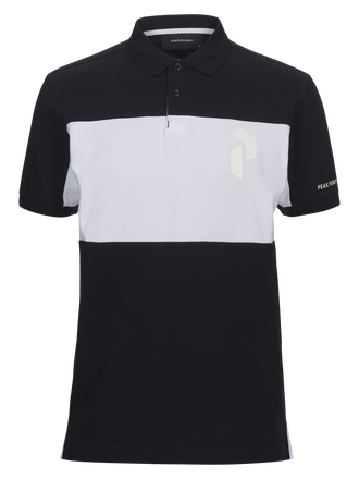 Sportswear blockfärgad herrpiké Black | Peak Performance