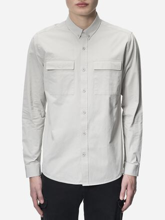 Herren Dean Army Hemd Mortar Grey | Peak Performance