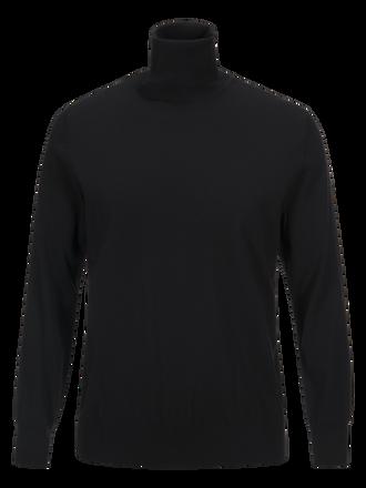 Men's Merino Roll neck sweater Black   Peak Performance