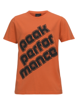 Sportswear t-shirt med tryck för barn Orange Flow | Peak Performance