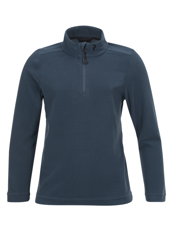 Kids Light Micro Zipped Mid-Layer Blue Steel | Peak Performance