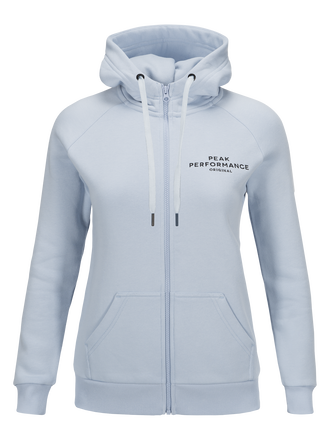 Women's Logo Zipped Hoodie Shirt Blue | Peak Performance