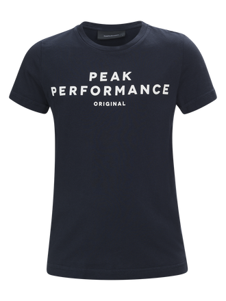 Kids Short-sleeved T-shirt Salute Blue | Peak Performance
