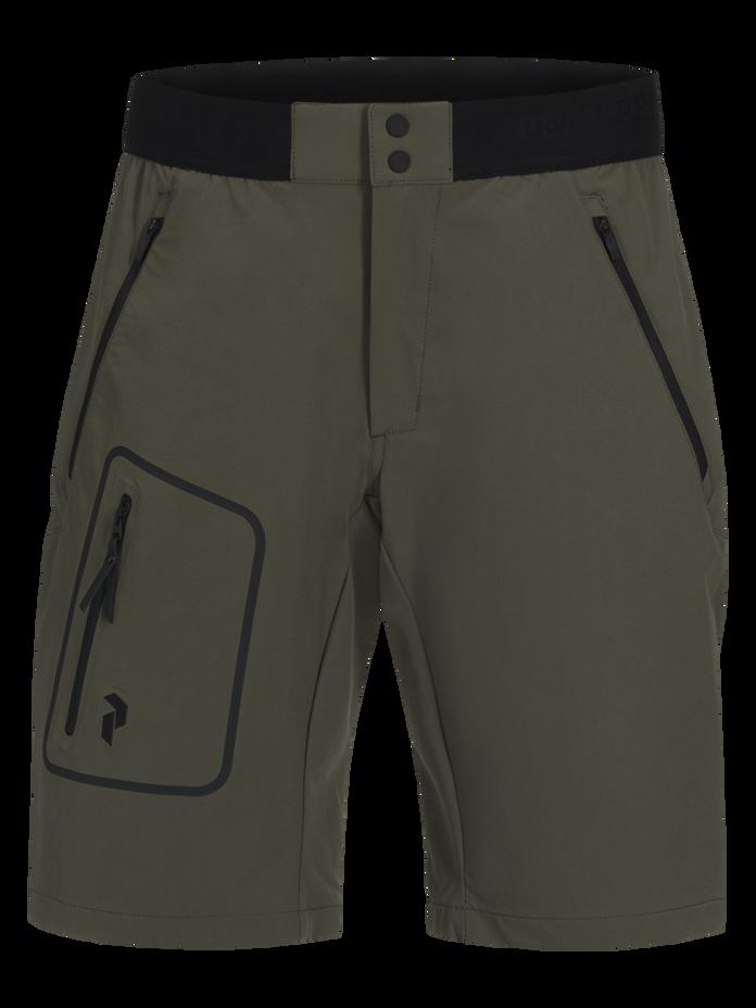 Herren Light Softshell Shorts Terrain Green | Peak Performance