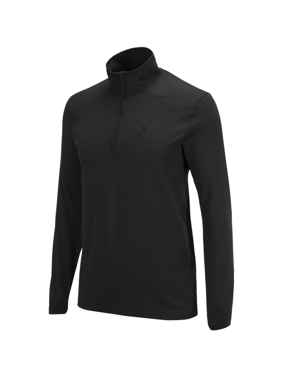 Men's Graph Half Zipped Base-Layer Black | Peak Performance
