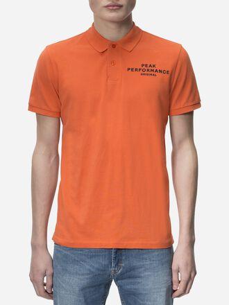 Men's Logo Pique Orange Flow | Peak Performance