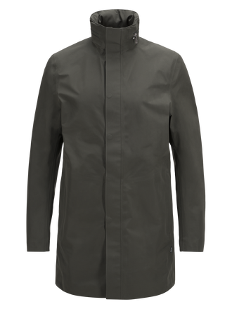 Men's Parkes Coat Black Olive | Peak Performance