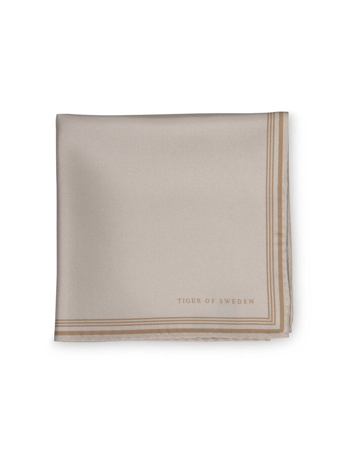SIGFRIDO HANDKERCHIEF  in Ivory from Tiger of Sweden