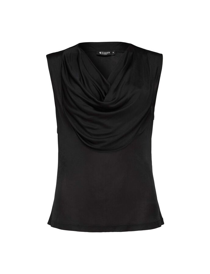 BEDA TOP in Midnight Black from Tiger of Sweden