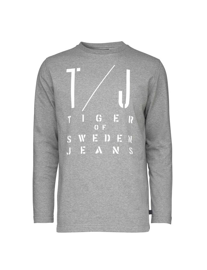 ZAC PR SWEATSHIRT in Grey melange from Tiger of Sweden