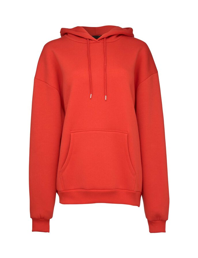 BIG TALK HOODIE in Valiant Poppy from Tiger of Sweden