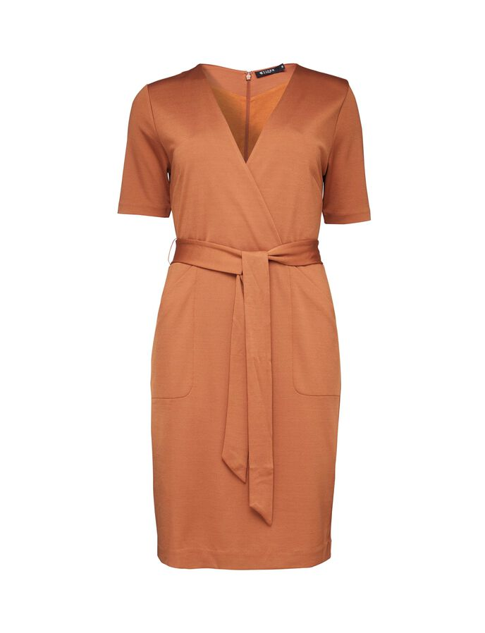 Adya dress in Leather Brown from Tiger of Sweden