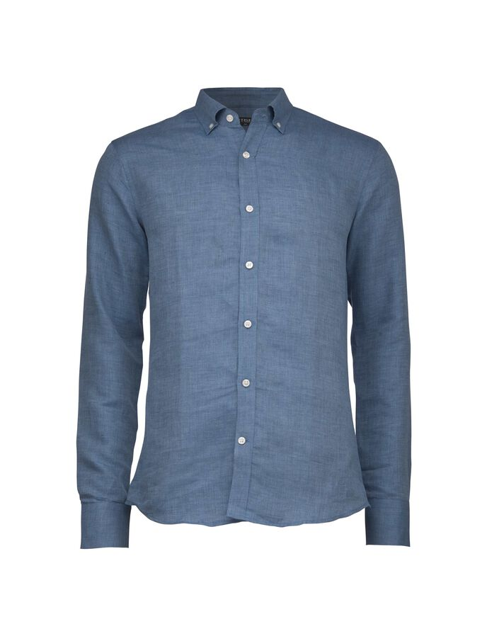 DONALD SHIRT in Royal Blue from Tiger of Sweden