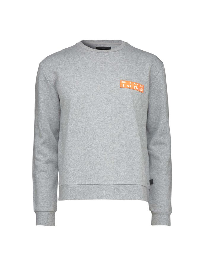 BUZZ PR SWEATSHIRT in Grey melange from Tiger of Sweden