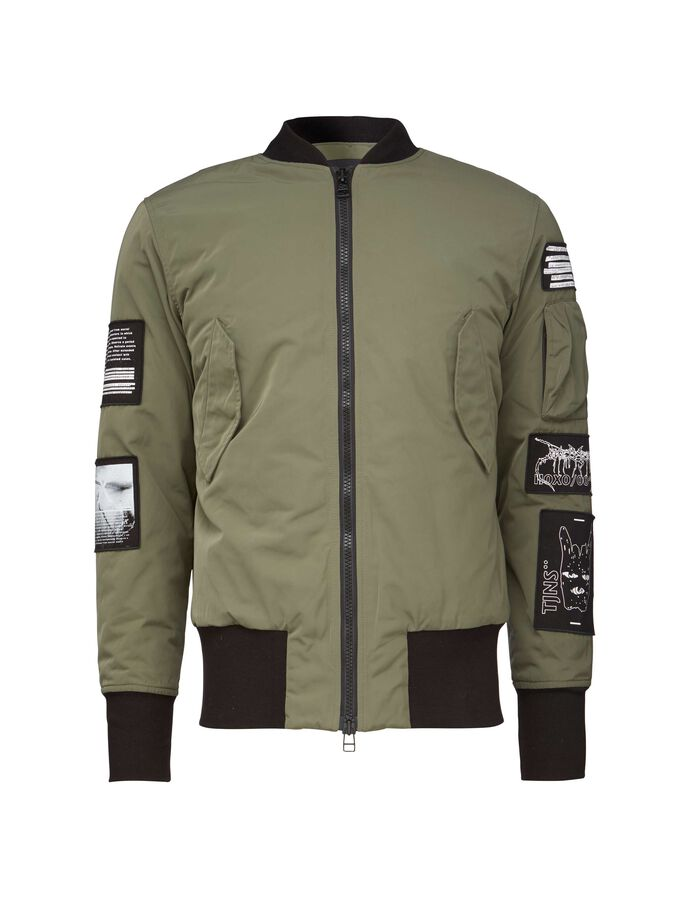 SOB PR JACKET in Dark Khaki Green from Tiger of Sweden