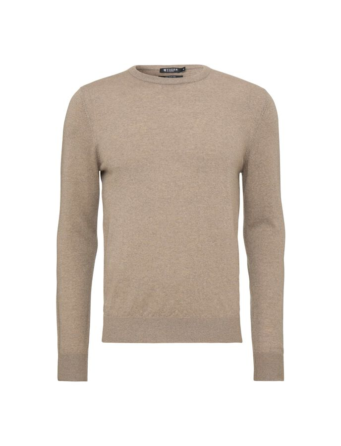 MATIAS PULLOVER in Irish Cream from Tiger of Sweden