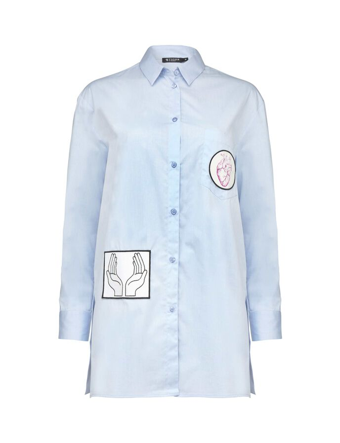ALLURA SHIRT in Art Deco Blue from Tiger of Sweden